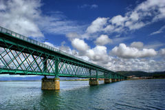 Eiffel bridge over Lima River in Viana do Castelo Stock Photography