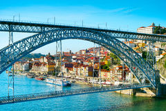 Eiffel bridge. Porto, Portugal Royalty Free Stock Photo