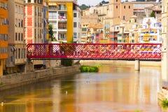 Eiffel bro Barcelona Girona Royaltyfria Bilder