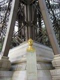 Eiffel Bust under Eiffel Tower stock photos