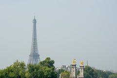 Eiffel en vert Images libres de droits