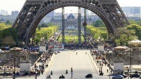 Eiffel grund Timelapse arkivfilmer