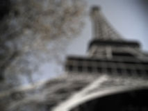 Eiffel ha offuscato Immagini Stock Libere da Diritti