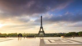 Eiffel hyperlapse stock video