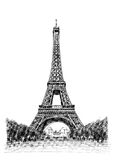 eiffel illustrationtorn stock illustrationer