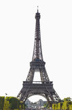 Eiffel isolated. Eiffel tower of Paris isolated over white Royalty Free Stock Photo