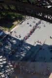 Eiffel kö Fotografering för Bildbyråer