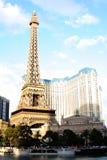 eiffel las Paris basztowy Vegas Zdjęcia Royalty Free