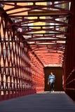Eiffel most w Girona, Hiszpania Zdjęcia Stock