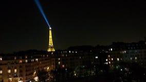 Eiffel na noite Imagens de Stock