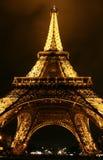 eiffel nattparis torn Royaltyfri Fotografi