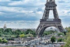 eiffel paris torn TappningHDR sikt Turnera Eiffel HDR stil Arkivfoton