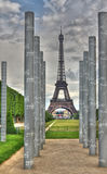 Eiffel and Peace memorial HDR Royalty Free Stock Image
