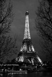 Eiffel preto e branco Paris Imagem de Stock Royalty Free