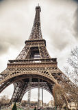 Eiffel's Tower. Eiffels' Tower in Paris at winter, close-up, tonned Royalty Free Stock Photo