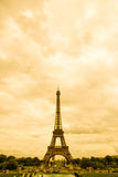 Eiffel in Sepia. Eiffel Tower in Paris in sepia tone Royalty Free Stock Image