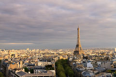 Eiffel skyline afternoon Stock Images
