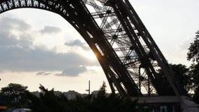 eiffel solnedgångtorn Arkivbild