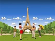 Eiffel står hög Royaltyfri Foto