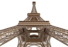 Eiffel står hög isolerat på vitbakgrund stock illustrationer