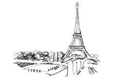 Eiffel står hög. Paris Frankrike. Royaltyfria Bilder