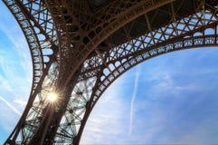 Eiffel sunshine detail Royalty Free Stock Photos