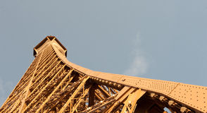 Eiffel top horizontal. The top of the Eiffel Tower in Paris, France royalty free stock photo