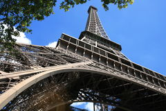 Eiffel Tour. In Paris in the summer stock image
