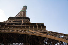 Eiffel tour. Paris shot from below with copy space Royalty Free Stock Image