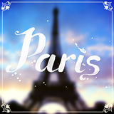 Eiffel tour blurred background with white Royalty Free Stock Images