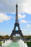 Eiffel tour and fountains of Trocadero. Paris,  France Stock Photo