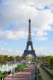 Eiffel tour and fountains of Trocadero Stock Photo