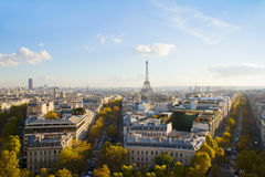 Eiffel tour and Paris skyline Stock Image
