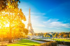 Eiffel tour and from Trocadero, Paris Stock Images
