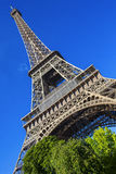 Eiffel Tover against the sky Royalty Free Stock Photo