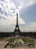 Eiffel tow. A self-made picture from the eiffel tower in Paris Royalty Free Stock Photo