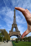 Eiffel towe small. Eiffel Tower the most visited monument of Paris Royalty Free Stock Photo