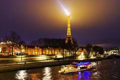 The Eiffel tower – PARIS,  DECEMBER 22, 2017. The Eiffel tower is the most visited monument of France  and one of the most recognisable structures in the world Royalty Free Stock Image