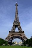 Eiffel Tower 01. Looking up at the Eiffle tower in Paris, France Royalty Free Stock Photo