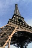 Eiffel Tower 02. Looking up at the Eiffle tower in Paris, France Royalty Free Stock Photo