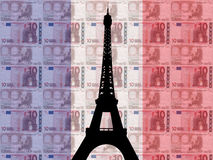 Eiffel tower with 10 euros Royalty Free Stock Photo