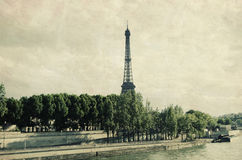 Eiffel tower. And seine view in Paris Royalty Free Stock Photo