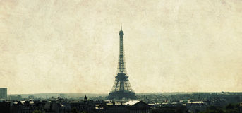 Eiffel tower. And seine view in Paris Royalty Free Stock Photos