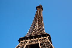 Eiffel tower. A capture of the Eiffel tower from its base, Paris Royalty Free Stock Photo