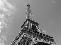 Eiffel Tower. With clouds, Paris, France Royalty Free Stock Image