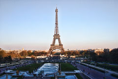 The Eiffel Tower. From the Trocadero royalty free stock images