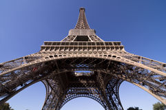 Eiffel Tower. Glory on a cold and sunny Autumn day in Paris Stock Photo