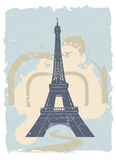 Eiffel tower royalty free illustration
