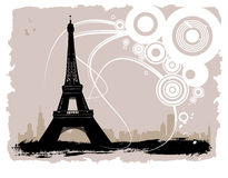 Eiffel tower. Abstract style eiffel tower vector Royalty Free Stock Image
