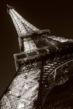 Eiffel Tower. At night in Paris Royalty Free Stock Images